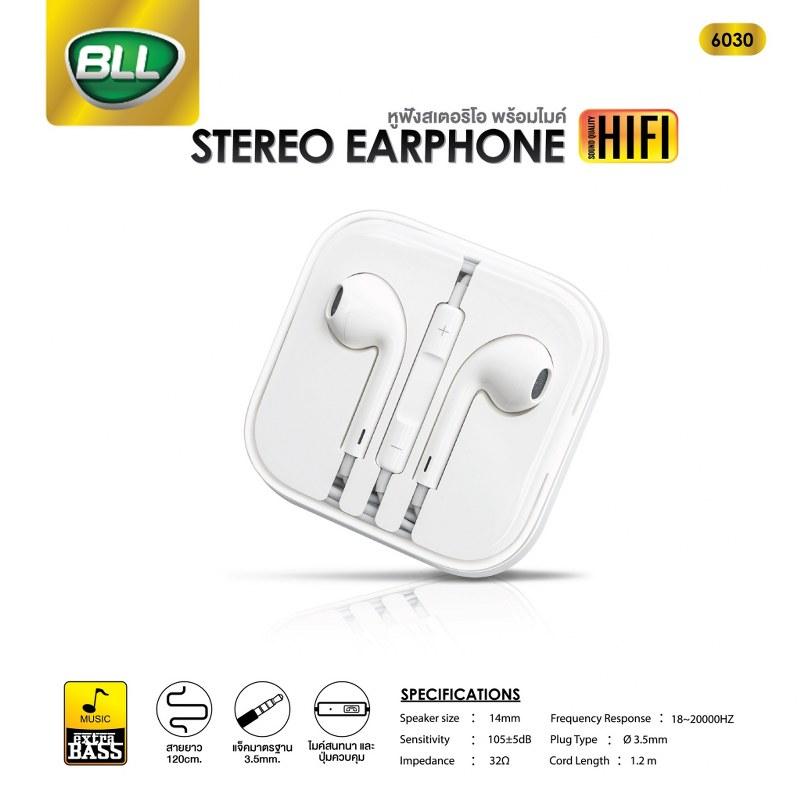 หูฟัง BLL 6030 เสียงดี เบสแน่น ใช้ได้กับ iphone และ android