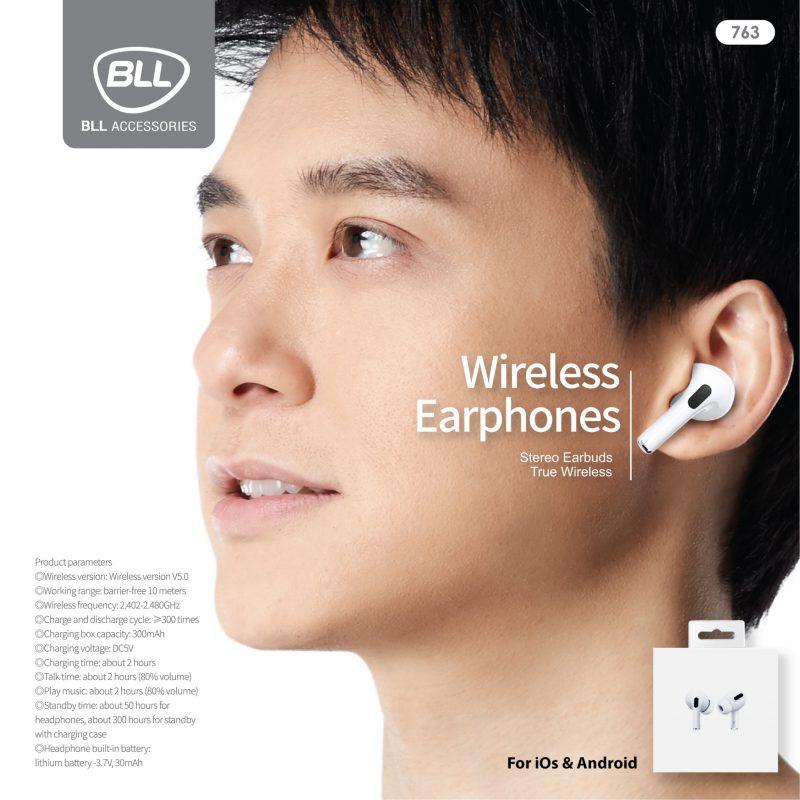 ใหม่ล่าสุด หูฟัง ฺBluetooth True Wireless BLL 763